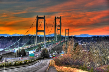 pacific northwest: Tacoma narrows  Stock Photo