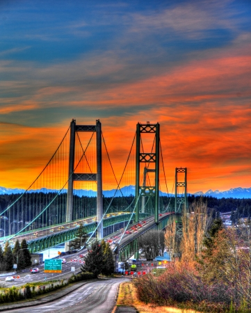 Tacoma narrows bridges photo