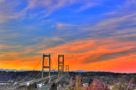 tacoma: Tacoma Narrows Stock Photo