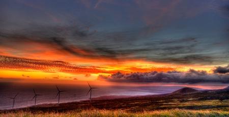 so: Windfarm,So. Maui Stock Photo