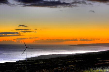 maui: South Maui  windfarm Stock Photo