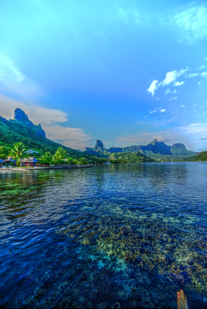 snorkle: Cooks Bay Moorea, Tahiti Stock Photo