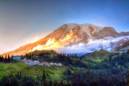 mount rainier: Mount Rainier Stock Photo