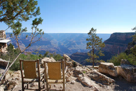 south rim: Grand Canyon south rim front row seats Stock Photo