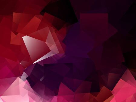 cubismo: Fondo abstracto moderno rojo - cubismo