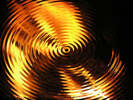 luminance: abstract background fiery waves, Water with reflection of fire Stock Photo