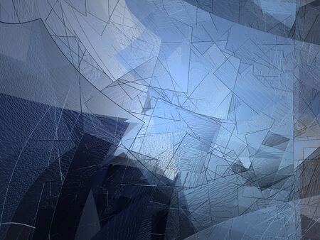 cubism: Modern blue abstract background - cubism Stock Photo