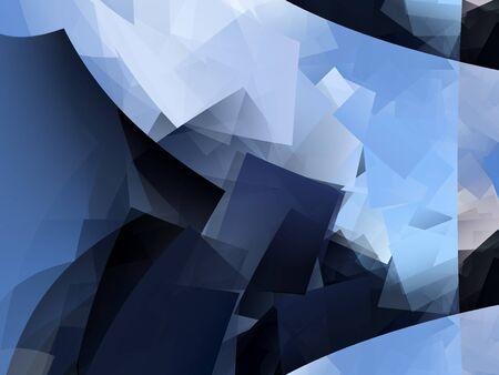 cubismo: Extracto moderno de fondo azul - cubismo