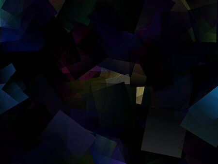 cubism: Modern color abstract background - cubism