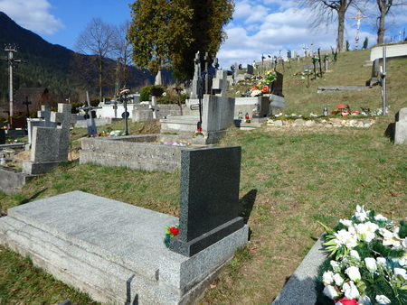 ancient pass: Graves in the cemetery, Grave stones, Stock Photo