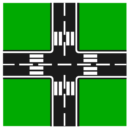 junction: road junction, Illustration crossroads, highway intersection,