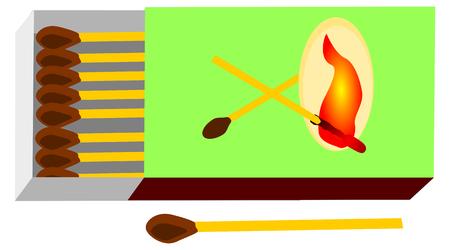matchstick: matchbox, matchstick,Matches, open match-box,