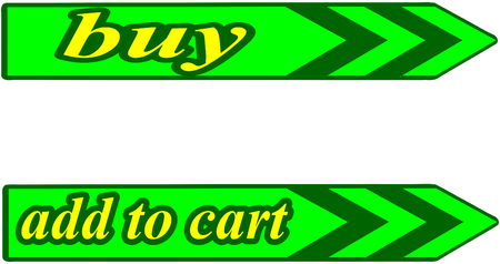 online specials: green buttons Buy and add to cart Illustration
