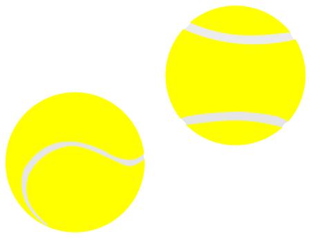 Zwei gelbe Tennisbälle, Tennisbälle