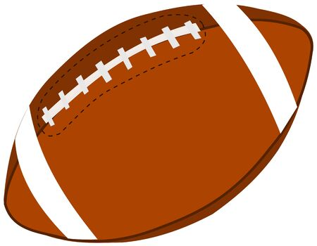collegiate: rugby ball,American football ball, Illustration