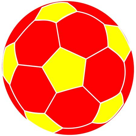 bounce: soccer ball red and yellow,