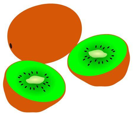 sliced fruit: tropical fruit, kiwi fruit ,sliced kiwi