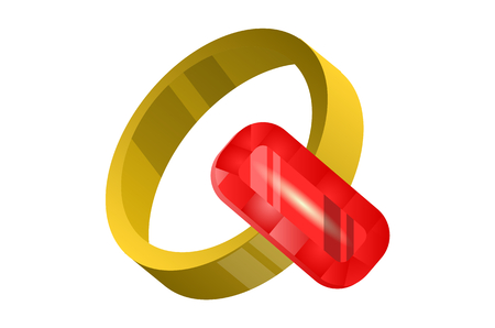 gold ring: ruby ring , Gold ring with ruby ,