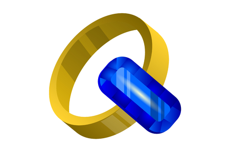 gold ring: sapphire ring, gold ring with sapphire