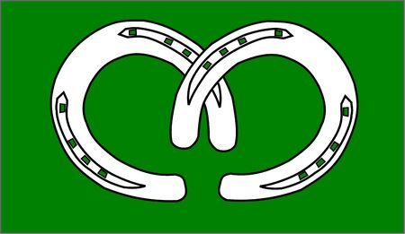 two horseshoe for good luck , two horseshoes Illustration