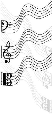 viola: treble clef, bass clef, viola,
