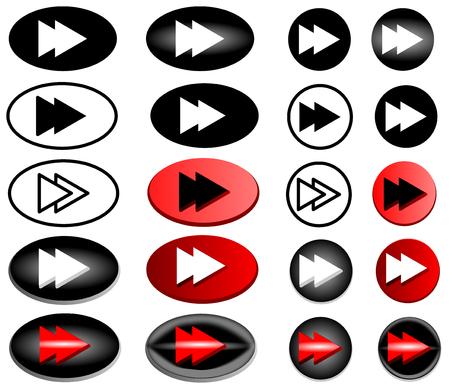 forward icon: next web icon,  forward icon -button , forward, vector icon set