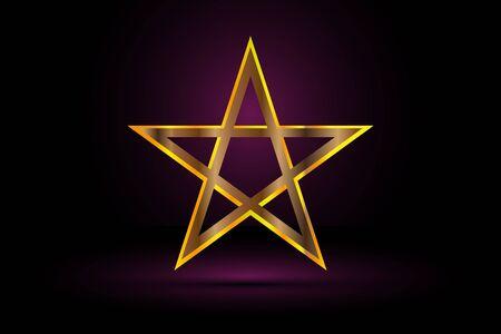 gold pentagram , yellow pentagram ,