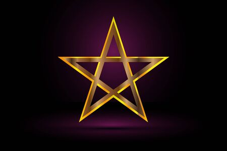 pentacle: gold pentagram , yellow pentagram ,