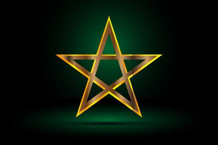 gold pentagram , yellow pentagram