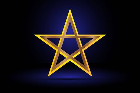 pentacle: gold pentagram , yellow pentagram