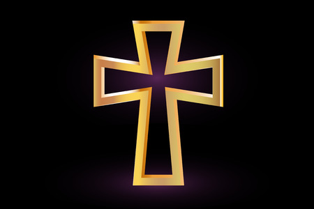 cross: Christian Cross Vector, cross on a purple background ,