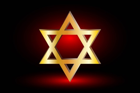 jewish star: Star of david, Jewish star,Star of David on a red background ,