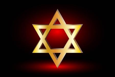 jews: Star of david, Jewish star,Star of David on a red background ,