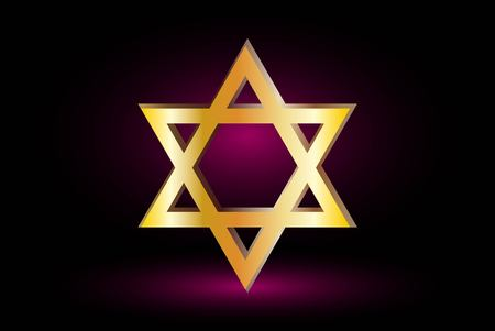 jewish star: Star of david, Jewish star,Star of David on a purple background ,