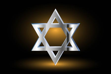 Star of david, Jewish star,Star of David on a black background ,