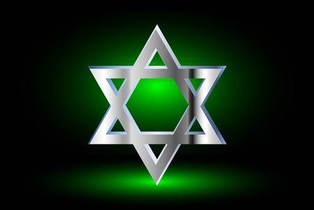 Star of david, Jewish star,Star of David on a green background ,