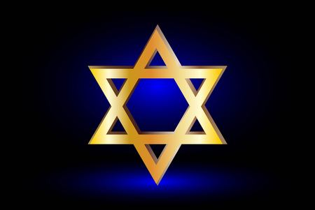 jewish star: Star of david, Jewish star,Star of David on a blue background ,