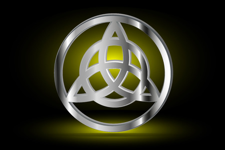 Triquetra symbol , Vector illustration ,symbol of strength, honor and glory, Illustration