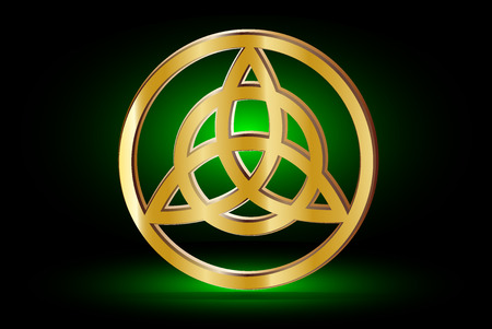 triquetra: Triquetra symbol , Vector illustration ,symbol of strength, honor and glory, Illustration