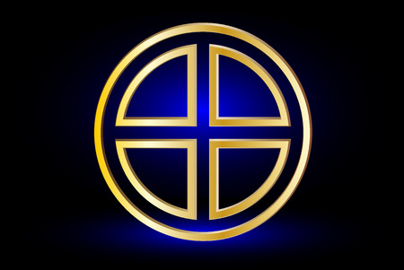 paganism: Celtic cross , cross in a circle ,