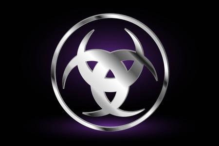 Three crescent , The horn of Odin , three crescent symbol Illustration