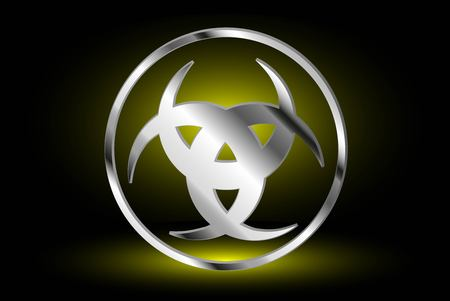 wiccan: Three crescent , The horn of Odin , three crescent symbol Illustration
