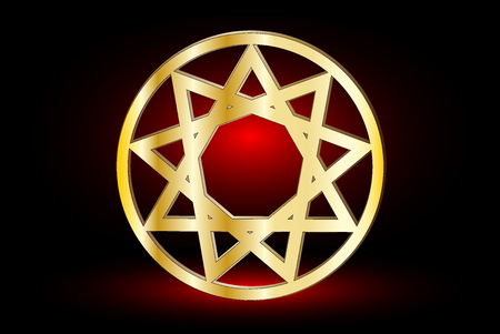 pointed to: Nine pointed star , stars in a circle  ,
