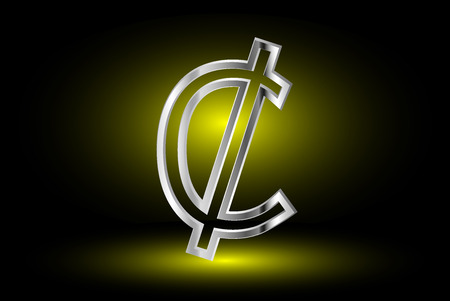 Cent Vector Icon Cent Cent Symbol Royalty Free Cliparts