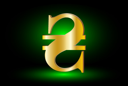 hryvna: Ukrainian Hryvnia sign icon, hryvnia currency symbol, Illustration