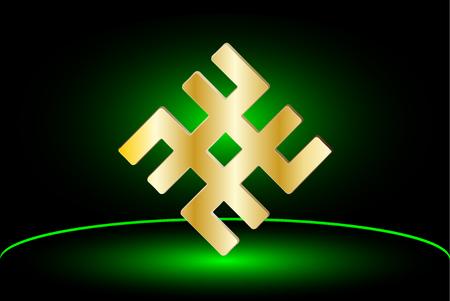 symbol -svarog, Slavic  vector illustration, Mysterious ancient  symbol,