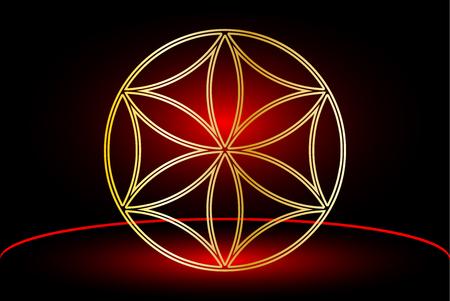 Flower of life , flower talisman ,