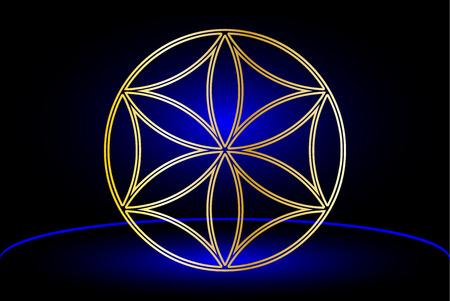 talismán: Flor de la vida, talismán de la flor, Vectores