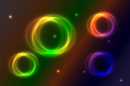 colored glowing rings, Abstract background  bright glowing rings,