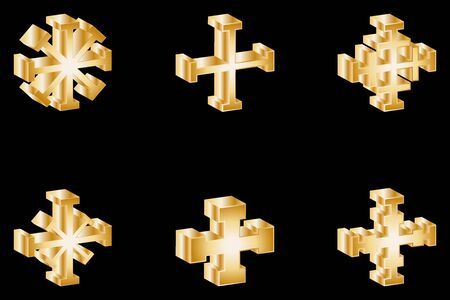 crosses: cross set, Set of crosses, Vector Crosses icon set ,